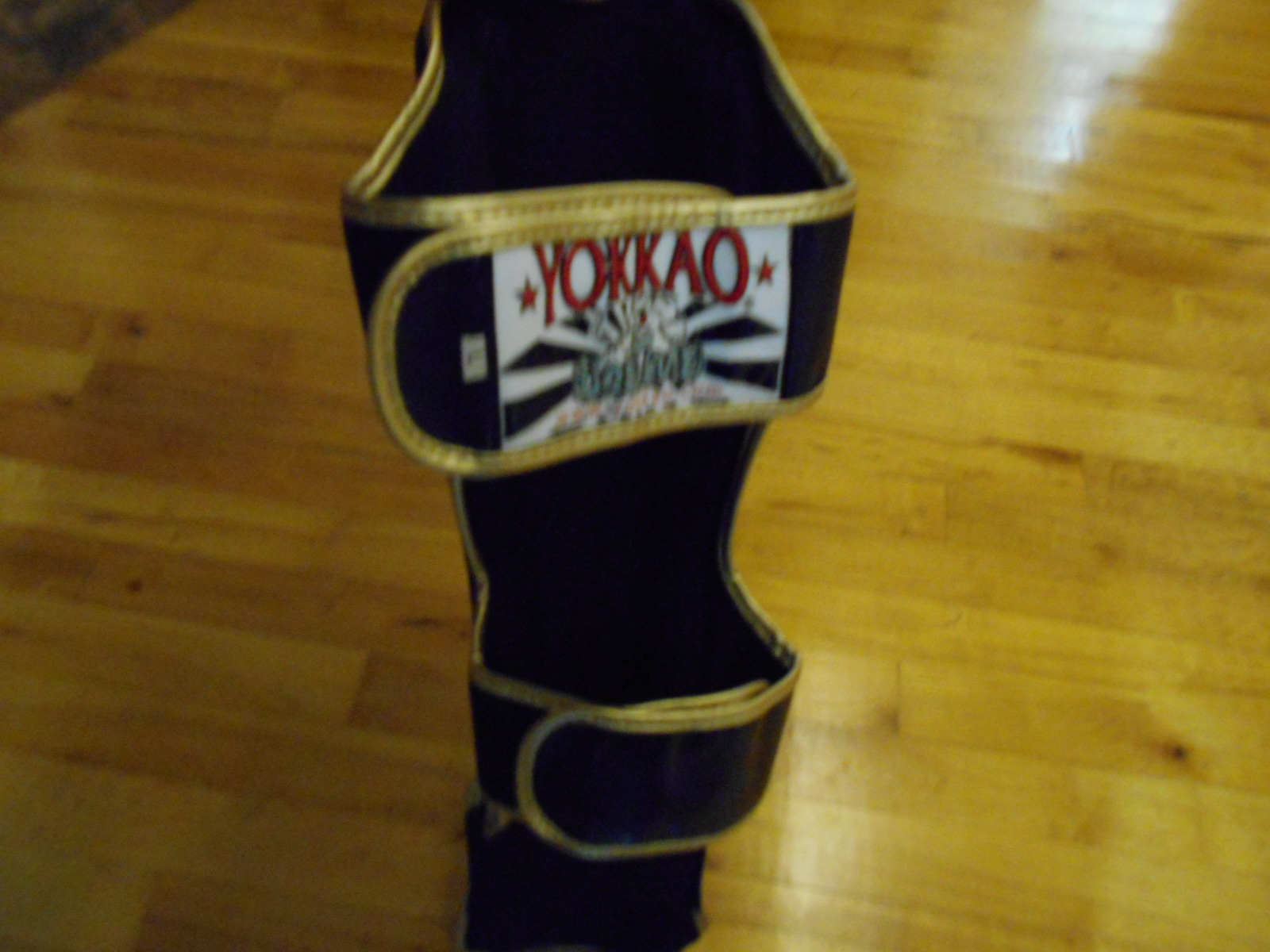 Yokkao black gloves - I Bought A Pair Of Black Large Shin Guards The Shin Guards Are Very Firm And Sturdy They Have Two Velcro Straps That Are Large Enough To Fit Just About